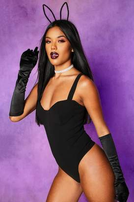 boohoo Halloween Plain Satin Gloves