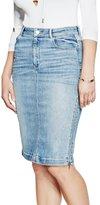 GUESS Denim Zip Midi Skirt