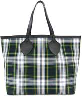 Burberry XL checked canvas tote
