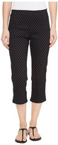 FDJ French Dressing Jeans - Dot Print Pull-On Capris in Black/White Women's Jeans