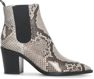 Gianvito Rossi Romney natural snake ankle boots