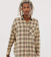 Collusion COLLUSION oversized western check-Yellow