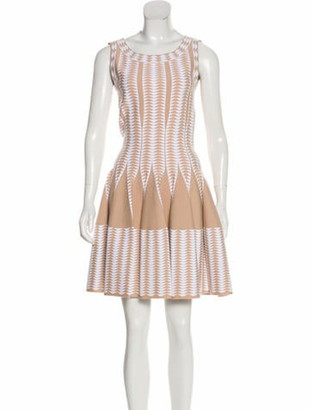 Alaia Sleeveless Fit & Flare Dress w/ Tags White