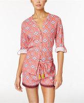 Lucky Brand Slub Jersey Floral Pajama Set
