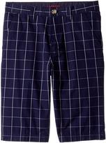 Lacoste Kids - Windowpane Check Bermuda Shorts Boy's Shorts