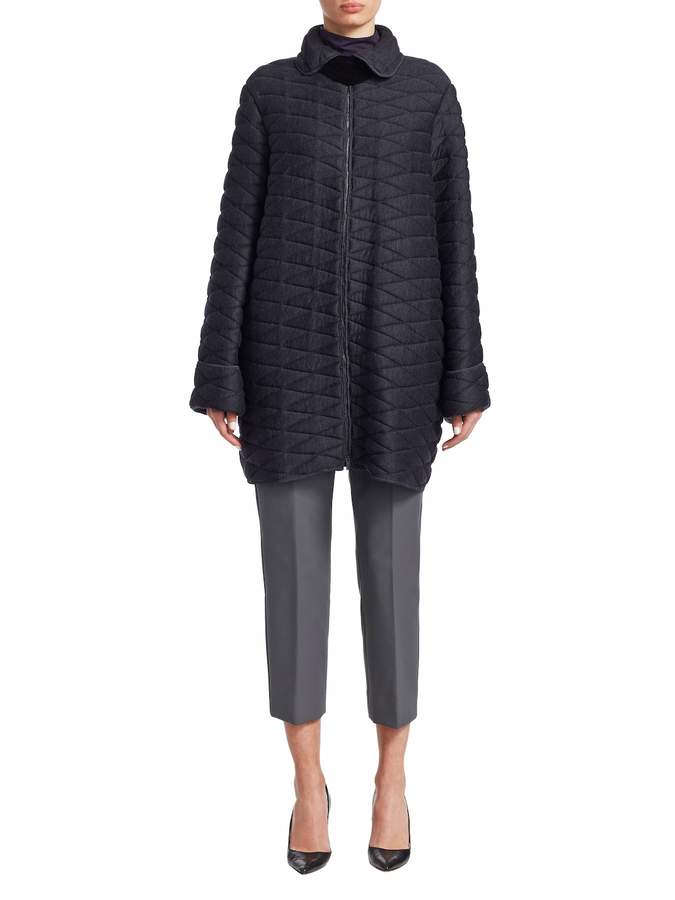 Armani Collezioni Women's Solid Quilted Coat