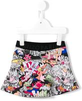Kenzo cartoon print skirt