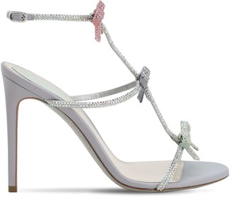 Rene Caovilla 105mm Satin & Crystals Sandals