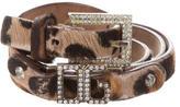 Dolce & Gabbana Ponyhair Jewel Waist Belt