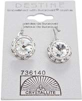 Crystallite Crystal Rhinestone Rivoli Dangle Earring