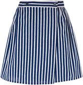 MAISON KITSUNÉ striped A-line skirt