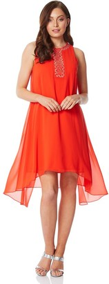 M&Co Roman Originals embellished overlay swing dress
