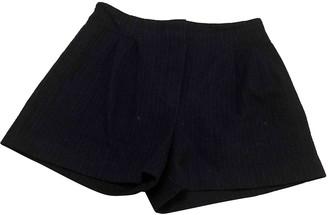 Masscob Blue Wool Shorts for Women