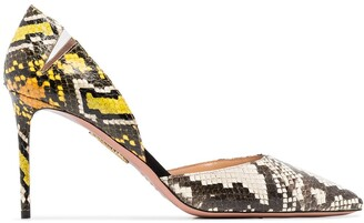Aquazzura 85mm Snake Print Pumps