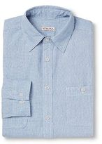 Merona Men's Button Down Shirt Blue Dobby Dot