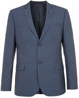 Topman Blended Blue Slim Fit Suit Jacket