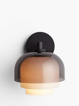Design Project By John Lewis Design Project by John Lewis No.210 3 Layer Glass Wall Light, Smoke