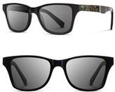 Shwood Women's 'Canby' 54Mm Polarized Acetate & Metal Sunglasses - Black/ Brass/ Grey Polar