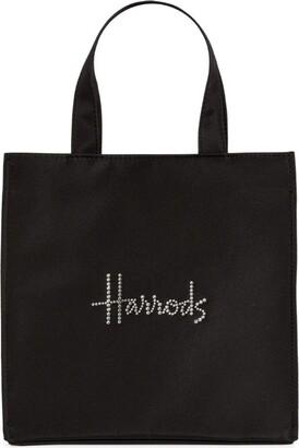 Harrods Small Swarovski Crystal-Embellished Logo Shopper Bag