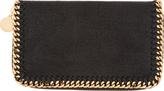 Stella McCartney Black Fallabella Shaggy Deer Wallet
