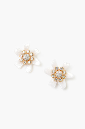 Lele Sadoughi Mother of Pearl Flower Bulb Button Earrings