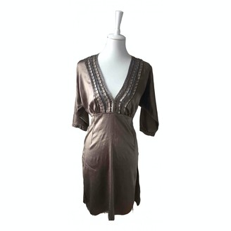 Bruuns Bazaar Ecru Silk Dress for Women