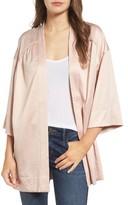 Hinge Women's Satin Kimono Jacket