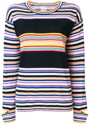 Barrie Striped Fine Knit Sweater