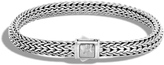 John Hardy Women's Classic Chain 6.5MM Hammered Clasp Bracelet in Sterling Silver