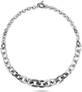 """John Hardy Classic Chain Knife-Edge Link Necklace, 18""""L"""
