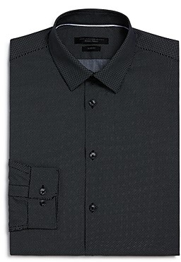 John Varvatos Pin Dot Slim Fit Dress Shirt