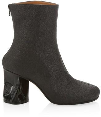 Maison Margiela Crushed-Heel Gitter Ankle Boots