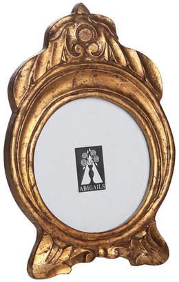 Abigails Vendome Round Gold Leaf Frame