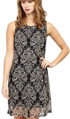 M&Co Izabel damask print shift dress
