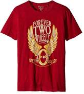 Lucky Brand Red Men XL Forever Two Wheels Graphic Tee T-Shirt