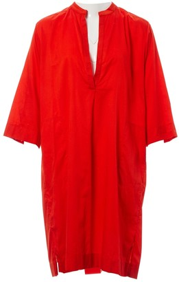 Eres Red Cotton Dress for Women