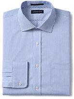 Classic Men's Pattern No Iron Supima Pinpoint Spread Collar-Dark Indigo Wash