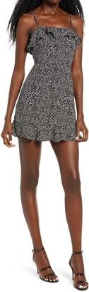 Rowa Sleeveless Ruffle Minidress