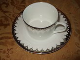 Martha Stewart Collection Handkerchief Lace Tea Cup & Saucer Bone China