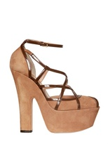 DSquared 150mm Suede And Patent Open Toe Sandals