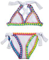Pilyq Girls' Crochet 2-Piece Swimsuit - Little Kid, Big Kid