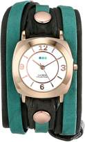 La Mer Women's LMDYLY1001 Neon Odyssey Rose Gold Watch with Wraparound Two-Tone Leather Band