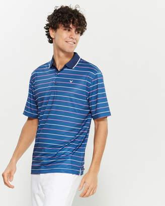Callaway Short Sleeve Striped Polo