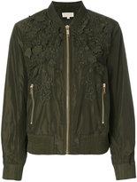 MICHAEL Michael Kors flower embellished bomber jacket