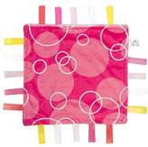Maven Soothing Security Blanket - White and Hot Pink with Bubbles