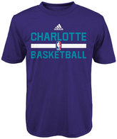 adidas Boys' Charlotte Hornets Practice Wear Graphic T-Shirt
