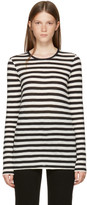 Proenza Schouler Black & Off-White Long Sleeve Striped T-Shirt