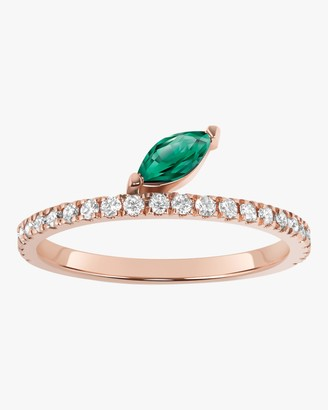 Marquis Emerald Defne Pave Ring