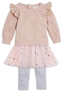 Miniclasix Girls' Ruffled Sweater & Tutu Leggings Set - Baby