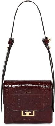 Givenchy Small Eden Croc Embossed Shoulder Bag
